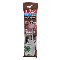 Трубочки для молока Квік Мілк шоколад Quick Milk chocolate 30g*20шт/ящ (Код : 00-00004742)