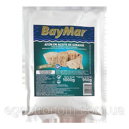 Тунець Беймар у соняшниковій олії в фользі BayMar de girasol 1000g 16шт/ящ (Код : 00-00003428)