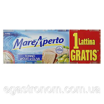 Тунець Маре Аперто в олив.олії Mare Aperto 3*160g 16пач/ящ (Код : 00-00005498)