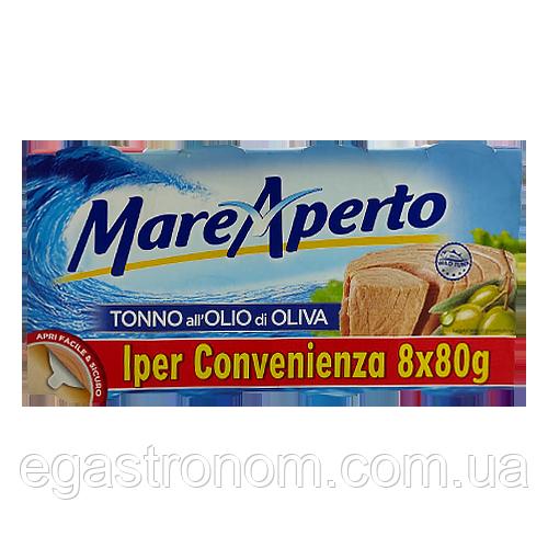 Тунець Маре Аперто в олив.олії Mare Aperto 8*80g 12пач/ящ (Код : 00-00004449)