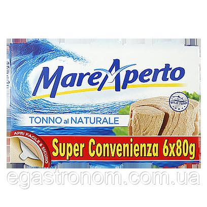 Тунець Маре Аперто у власн.соці (спайка) Mare Aperto 6*80g 16пач/ящ (Код : 00-00005438)