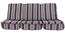Комплект поролоновых подушек для садовой качели Арт. П-003, Подушка поролоновая, Украина
