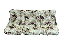 Комплект синтепоновых подушек для садовой качели Арт. С-027, Подушка синтепоновая, Украина