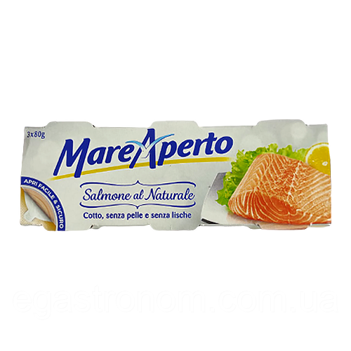 Філе лосося Маре Аперто Mare Aperto 80g/3*80g 24пач/ящ (Код : 00-00001513)