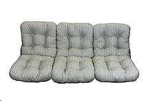 Комплект синтепоновых подушек для садовой качели Арт. С-029, Подушка синтепоновая, Украина