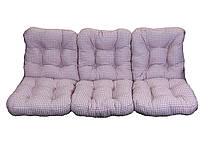 Комплект синтепоновых подушек для садовой качели Арт. С-030, Подушка синтепоновая, Украина