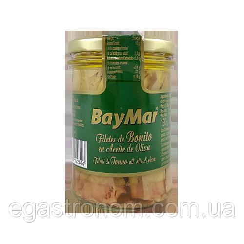 Філе тунця Беймар в оливковій олії Baymar 125/190g 12шт/ящ (Код : 00-00003750)