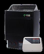 Электрокаменка EcoFlame AMC 90 D + пульт CON4, 8-13 м3, 9 квт, 380, Настенная, Выносной
