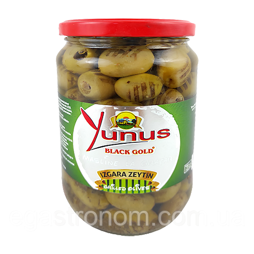 Оливки гриль Юнус Yunus black gold 670/430g 12шт/ящ (Код : 00-00003026)