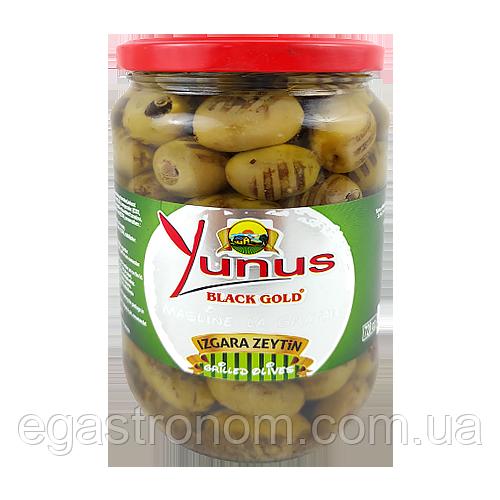 Оливки Юнус гриль Yunus black gold 670/430g 12шт/ящ (Код : 00-00003026)