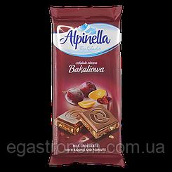 Шоколад Альпінелла арахіс з ізюмом Alpinella bakaliowa 90g 25шт/ящ (Код : 00-00003440)
