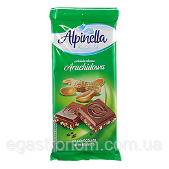 Шоколад Альпінелла арахісова Alpinella arachidowa 90g 25шт/ящ (Код : 00-00003436)