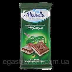 Шоколад Альпінелла м ята Alpinella mletowa 90g 22шт/ящ (Код : 00-00003437)