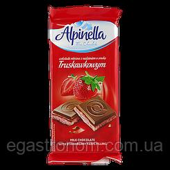 Шоколад Альпінелла полуниця Alpinella truskawkowa 90g 22шт/ящ (Код : 00-00003431)