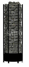 Электрокаменка Sawo Tower Round TH9-120NS Black, Электрокаменки, Финляндия, 14-24 м3, 12 квт, 380, Напольная,
