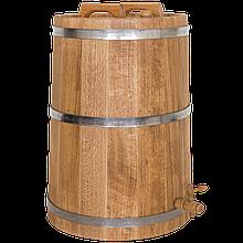 Жбан дубовий 80 літрів для напоїв (нержавіючий обруч), Дубові бочки, Для напоїв, Україна, 80