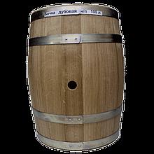 Бочка дубовая 100 литров для напитков (оцинкованный обруч), Дубовые бочки, Для напитков, Украина, 100