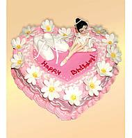 """Детский  торт на заказ """"Люблю балет"""""""
