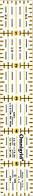 Универсальная линейка с дюймовой шкалой 1 x 6 дюймов,Prym