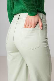 Прямые широкие котоновые джинсы  со средней  посадкой в 4 цветах в размерах: S, M, L, XL.
