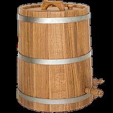 Жбан дубовий 30 л для вина, коньяку (оцинкований обруч), Дубові бочки, Для напоїв, Україна, 30