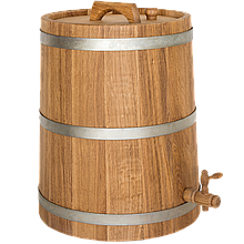 Жбан дубовый 30 л для вина, коньяка (оцинкованный обруч), Дубовые бочки, Для напитков, Украина, 30