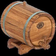 Жбан дубовый 10 л для вина, коньяка (нержавеющий обруч), Дубовые бочки, Для напитков, Украина, 10