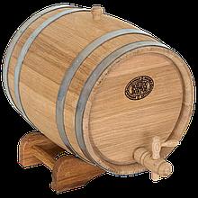 Бочка дубовая 15 л для вина, коньяка (нержавеющий обруч), Дубовые бочки, Для напитков, Украина, 15