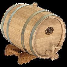 Бочка дубовая 15 литров (оцинкованный обруч), Дубовые бочки, Для напитков, Украина, 15