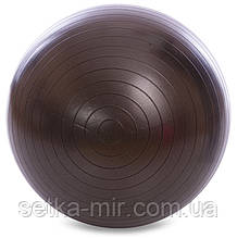 М'яч для фітнесу (фітбол) 65см Zelart FI-1980-65, Чорний