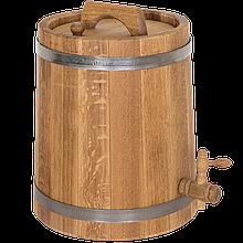 Жбан дубовый 10 литров для напитков (нержавеющий обруч), Дубовые бочки, Для напитков, Украина, 10