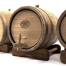 Бочка дубовая 10 литров (оцинкованный обруч), Дубовые бочки, Для напитков, Украина, 10