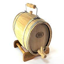 Бочка дубовая 7 л (оцинкованный обруч), Дубовые бочки, Для напитков, Украина, 7