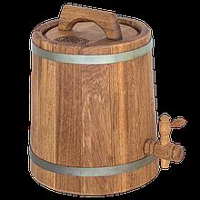 Жбан дубовий 5 л для вина, коньяку (оцинкований обруч), Дубові бочки, Для напоїв, Україна, 5