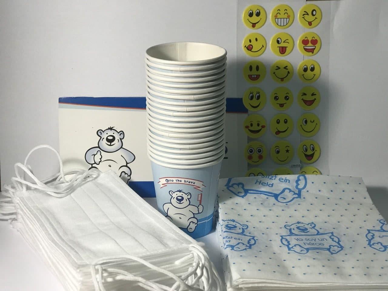 Набор для детского приема, синий/розовый (Thienel Dental), 1 упак.