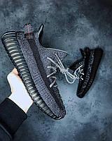 Жіночі кросівки Adidas Yeezy Boost 350 V2 \ Адідас Ізі Буст 350 Чорні \ Жіночі кросівки Адідас Ізі Буст 350, фото 1