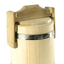 Кадка липовая для мёда 5 л БонПос (нержавеющий обруч), Кадки, Для мёда, Украина, 5