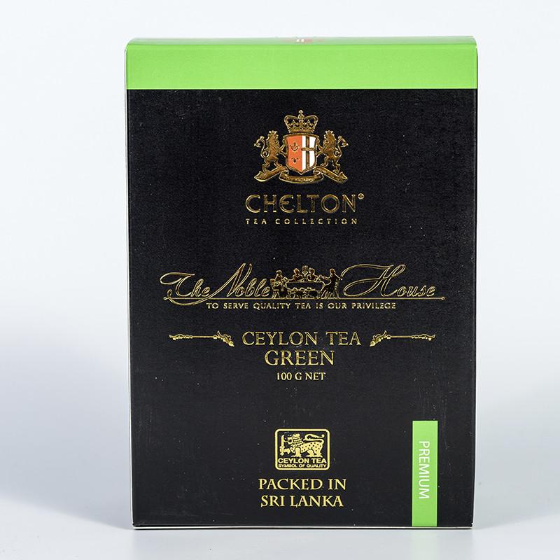 """Чай ЧЕЛТОН Благородний будинок ,зеленый чай о.Цейлон  100 г ТМ """"Chelton"""""""