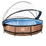 Каркасный бассейн круглый Exit с куполом 360x76 дерево, Каркасные бассейны, Круглая, 360x76, Нидерланды, фото 2