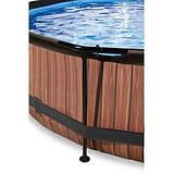Каркасный бассейн круглый Exit с куполом 360x76 дерево, Каркасные бассейны, Круглая, 360x76, Нидерланды, фото 3