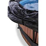 Каркасный бассейн круглый Exit с куполом 360x76 дерево, Каркасные бассейны, Круглая, 360x76, Нидерланды, фото 4
