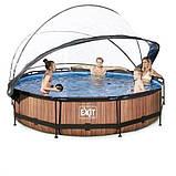 Каркасный бассейн круглый Exit с куполом 360x76 дерево, Каркасные бассейны, Круглая, 360x76, Нидерланды, фото 5