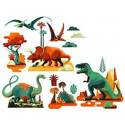 """DJECO Наклейки на окно """"Динозавры"""", DD05050"""