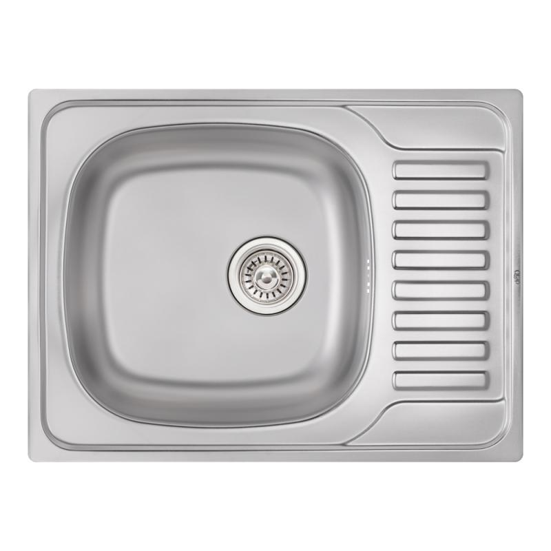 Кухонная мойка Qtap 6550 Satin 0,8 мм (QT6550SAT08)