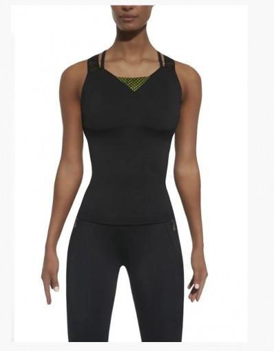 Жіночий топ BasBlack Inspire Top 50 black/green Original для фітнесу