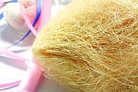 Сизаль натуральная (волокна сизаля) 100грамм Цвет - СОЛОМЕННЫЙ