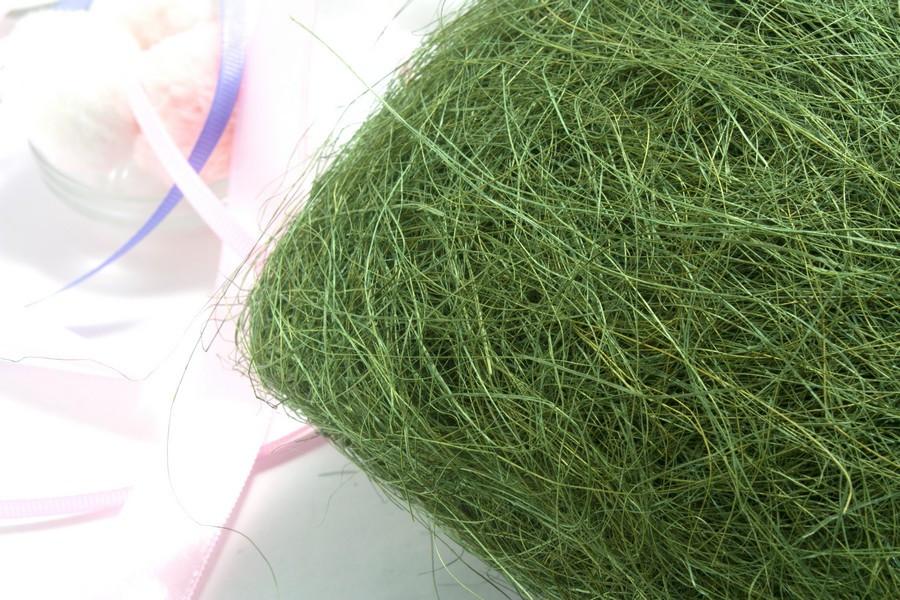 Сизаль натуральна (волокна сизалю) 100грам Колір - МОЛОЧНИЙ