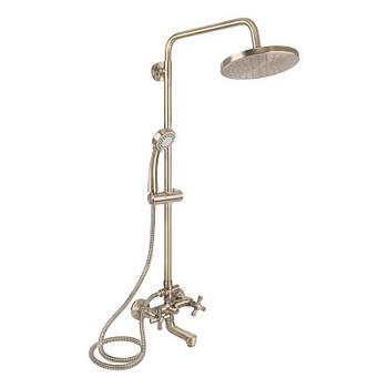 Душевая система с тропическим душем и смесителем цвет бронза Q-tap Liberty ANT 140-210