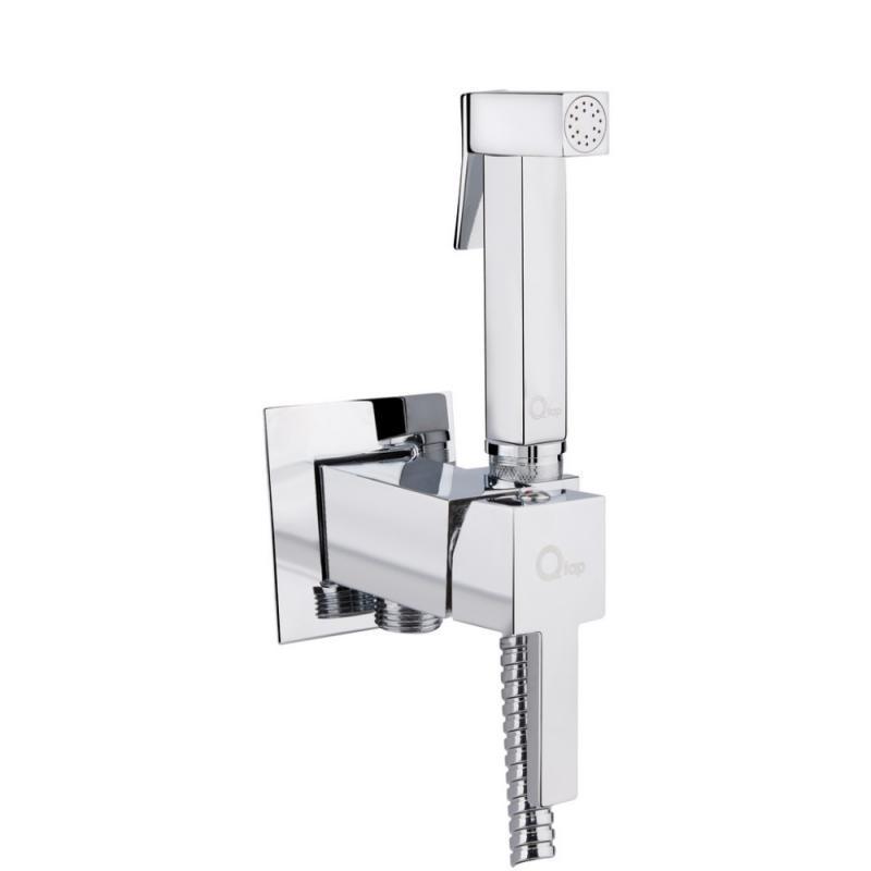 Набор для гигиенического душа встроенного монтажа цвет хром Q- tap Inspai-Varius V00440201 CRM