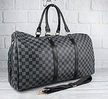 Сумка дорожная кожа PU серая Louis Vuitton 41412